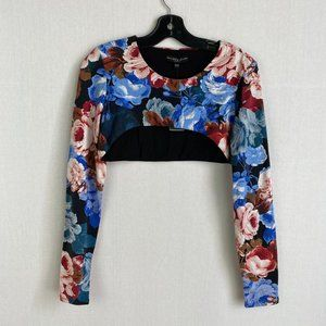 GUESS Floral Super Cropped Top NWT